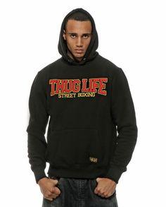 "Thug Life ""Street Boxing"" Hoody Black/Red"