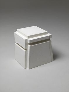Rachel Whiteread. I believe that this is from a series of objects cast from spaces in which she hid as a child.