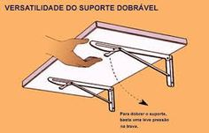 Resultado de imagem para como fazer uma mesa de parede dobravel