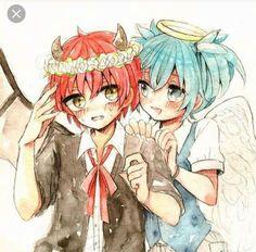 Karmagisa One-Shots - Demon Karma x Angel Nagisa ❤ - Wattpad Anime Meme, Anime Manga, Anime Art, Karma Kun, Nagisa And Karma, Rog Fairy Tail, Koro Sensei, Nagisa Shiota, Angel Beats