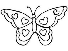 hearts and butterflies coloring page free printable - 909×680