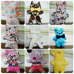 Doudou chat lapin personnalisé couleur tissus liberty prénom au choix fait main diy lesdoudousdelouna@hotmail.com   http://i.instagram.com/lesdoudousdelouna/