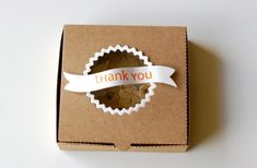 mini pizza box diecut that fits a cookie. Adorable for party favor!