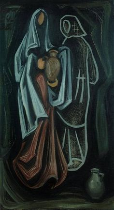Josef Čapek: Two women with jugs oil on canvas) Contemporary Artists, Modern Art, Writers And Poets, Traditional Art, Oil On Canvas, Scene, Graphic Design, Fine Art, Illustration