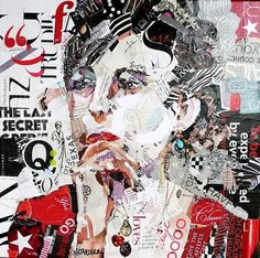 Nancy Standlee Art Blog: Torn Paper Collage Portrait by Texas Daily Painter Nancy Standlee