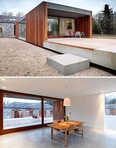 Historic Farm House Building + Modern Home Addition