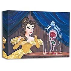 Disney Belle ''Enchanted Rose'' Giclée by Paige O'Hara | Disney StoreBelle ''Enchanted Rose'' Gicl�e by Paige O'Hara - Our <i>Beauty and the Beast</i> princess knows there's no back-petaling with the ''Enchanted Rose'' in this gallery-wrapped gicl�e created by renowned artist Paige O'Hara. Get yours before the last petal falls!