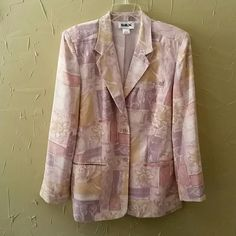 SILX Blazer. Preowned Multi color design with 2 button-front closure, 3 b bosom & 2 hip pockets. Jackets & Coats Blazers