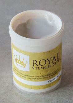Clear Stencil Gilding Size for Simple Metal Leaf Gilding with Stencils – Royal Design Studio Stencils Stencil Patterns, Stencil Designs, Art Designs, Decorative Painting Projects, Interior Decorating Styles, Royal Design, Hand Painted Furniture, Stencil Painting, Studio