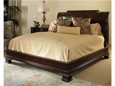 Shop for Century Furniture Platform Bed With Bun Foot and Veneer Headboard King Size 6/6, 309-186, and other Bedroom Beds at Goods Home Furnishings in North Carolina Discount Furniture Stores Outlets. In The Late 18Th And Early 19Th Centuries, When French And English Palace Decor Set The Styles Of Design, Royal Excesses Of The Past Had Become Insupportable And Were Rejected In Favor Of Simpler, More Classic Designs.
