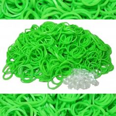 Lime Green Rainbow Loom Rubber Bands 600 pcs