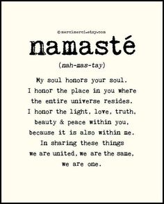 Nothing more powerful than sharing this with another human being. I ❤️ namaste & mankind.