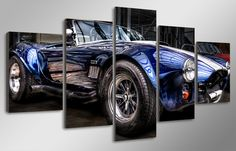 Framed Picture Car Ford Shelby Cobra Classic Painting Wall Art Canvas home Decor Canvas Home, Canvas Wall Art, Ford Shelby Cobra, 5 Panel Wall Art, Classic Paintings, Car Ford, Summer Sale, Car Pictures, Picture Frames