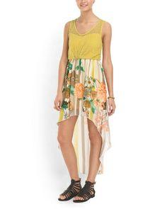 Floral Crochet Hi Lo Dress