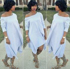 Casual Asymmetrical Mid Dress