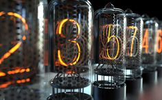 Nixie tube clock, Andrzej Orzęcki on ArtStation at https://www.artstation.com/artwork/l54Kk