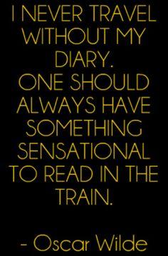 oscar wilde quotes diary train spr che zitate leben. Black Bedroom Furniture Sets. Home Design Ideas
