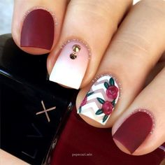 33 Super Pretty Flower Nail Designs To Copy Floral nail designs are among the most popular because we consider flowers to be synonymous to the [. Cute Acrylic Nails, Acrylic Nail Designs, Cute Nails, Pretty Nails, Nail Art Designs, Fall Toe Nail Designs, Nail Designs Tumblr, Hair And Nails, My Nails
