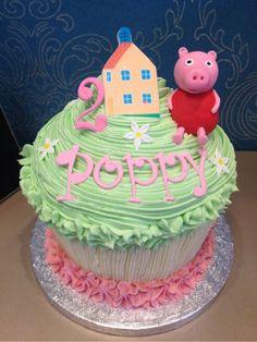 Bouqcake Cupcakes | Giant cupcakes peppa pig giant cupcake