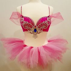 Princess Peach Rave Bra EDC outfit Super by ElectricDreamCouture
