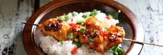 Kananpojan grillivarras ja helppo marinadi Risotto, Grains, Rice, Meat, Chicken, Ethnic Recipes, Food, Meals, Yemek
