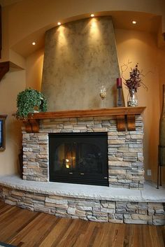 Neatly Stacked Stones Fireplace   Home Decorating Trends   Homedit