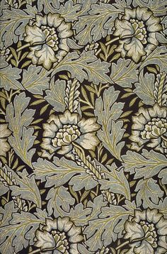 'Anemone' printed textile design by William Morris, produced by Morris Co in 1876. via The Textile Blog