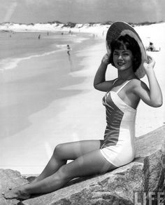 50s. When will these swimsuits come back.  I love them!