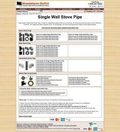 Single Wall Wood Stove Pipe
