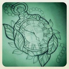 Pocket Watch tattoo design