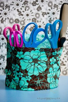 Home Ec. with Mel: Crafter's Tool Bucket Organizer