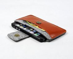 Felt iPhone 5 5S 5C 4S 4 Sleeve Case Bag Sleeve Samsung Galaxy S4 S3 Note 2 Note 3 Case iPhone Wallet Sleeve Cards Holder Custom Made 1614