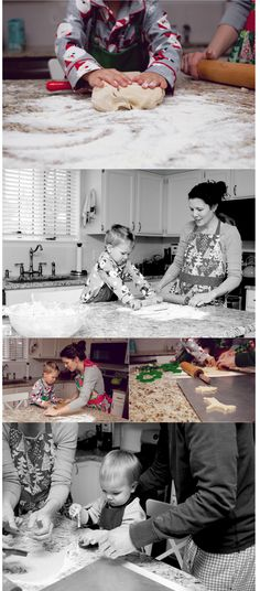 Lifestyle photography... baking in the kitchen is a fun way to get the kids relaxed.  Be yourselves!!