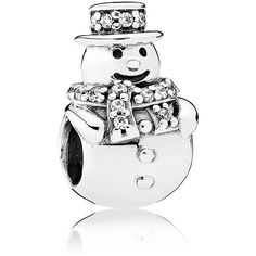 Pandora Charm - Sterling Silver & Cubic Zirconia Snowman, Moments... (4.795 RUB) ❤ liked on Polyvore featuring jewelry, pendants, multi, sterling silver jewellery, sterling silver jewelry, charm jewelry, sterling silver cz jewelry and sterling silver cubic zirconia jewelry