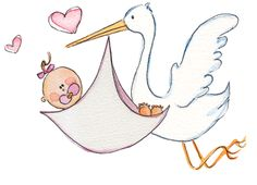free baby and stork girl printable pictures Templates Printable Free, Free Printables, Stork Baby Showers, Baby Shower Templates, Baby Illustration, Illustrations, Printable Pictures, Free Cars, Free Baby Stuff