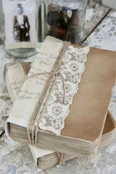 Shabby Chic Decor,really stupendous information 9034803639 - A wonderful and impressive compilation on decor design tactics and tricks.Pop the image right now to wade through other jaw-dropping examples. Decoration Shabby, Shabby Chic Decor, Altered Books, Altered Art, Creation Deco, Painted Books, Book Journal, Journals, Journal Covers