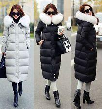Women Real Fur Collar Winter Warm jacket Down jacket long Duck Down Parka Coat
