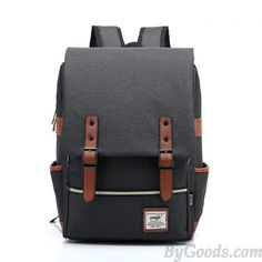 Vintage Travel Backpack Leisure Canvas With Leather Backpack amp Schoolbag  Canvas Backpacks 8725390f3b86b
