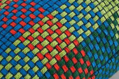 RGB collection of Simon Key Bertman including four cushions in the colors red (R), green (G), blue (B) and multicolor (RGB). (R), (G) and (B) are mixed in five yarn blends with four wires each graded across the surface to give it a rounder impression. (RGB), multicolor is instead a mixture of all colors but with clean topic mixtures of four threads.  Product: Cushion CoverName: RGB RedColor: 4 colors (red, green, blue & multi)Material: 100% cottonProduction: Hand woven in 100% cottonWash: 30…