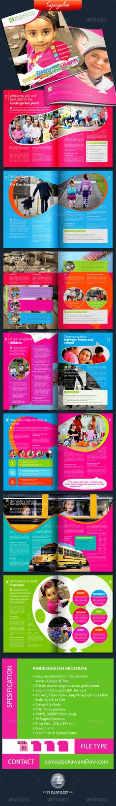 16 Pages Kindergarten Brochure — Photoshop PSD #kids #child • Available here → https://graphicriver.net/item/16-pages-kindergarten-brochure/5496056?ref=pxcr