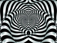 black white fractals spiral monochrome optical illusions