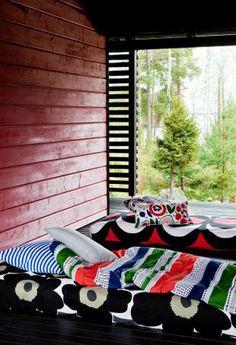 : Marimekko Home S/S 2014 Luxury Duvet Covers, Bed Duvet Covers, Luxury Bedding, Marimekko, Cheap Bed Linen, Japanese Bedroom, Picnic Blanket, Outdoor Blanket, Turbulence Deco