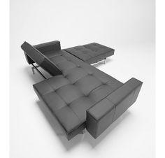 Innovation Living - Danish design sofa beds for small living spaces Grey Sofa Bed, Sofa Bed Sleeper, Black Sofa, Sofa Beds, Bed Mattress, Oz Design Furniture, Sofa Furniture, Funky Furniture, Contemporary Furniture