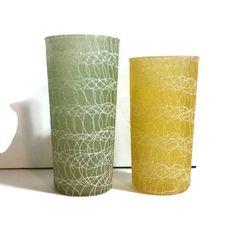 Spaghetti String Glasses mid-century drinking glasses ice