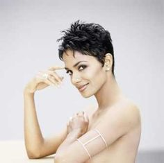"""style your hair like Halle Berry-""""Spiky Pixie Haircut"""""""