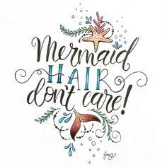 Design by @JunoonDesigns #brushlettering #typography #handlettering #lettering #coastal #mermaid #mermaidhair