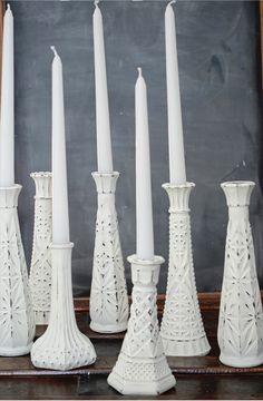 Домашняя магия: изысканные подсвечники из дешевых стеклянных ваз