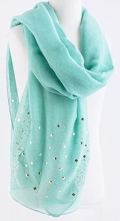 Love the color!!  // Mint Turquoise Ella Scarf