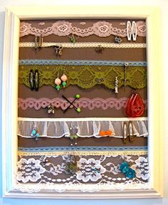 """Like this better than having to take whole thing down with a solid piece of material. I think I'd """"flounce"""" strips of the same ivory antique lace in layers. Would fit into my decor more easily."""
