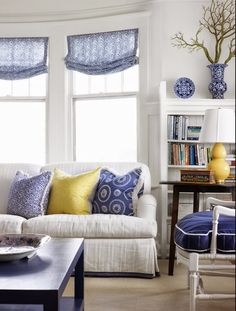 Vicky's Home: Azul y amarillo, un toque veraniego / Blue and yellow, a summery touch